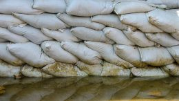 sandbags to prevent flooding